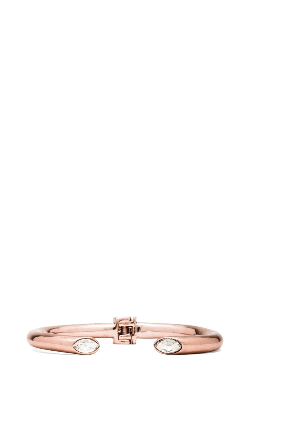 Lisa Freede Marquise Crystal Hinged Bracelet in Rose Gold