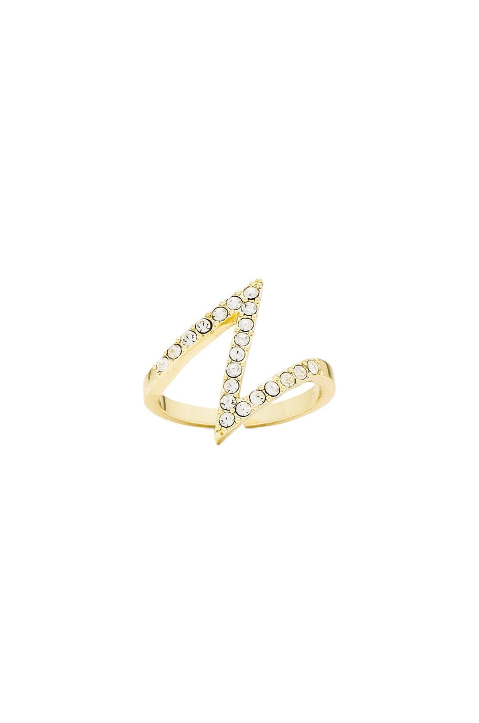 Lisa Freede Bowie Ring in Yellow Gold