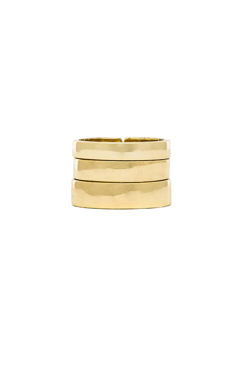 Lisa Freede Set of 3 Rings in Gold