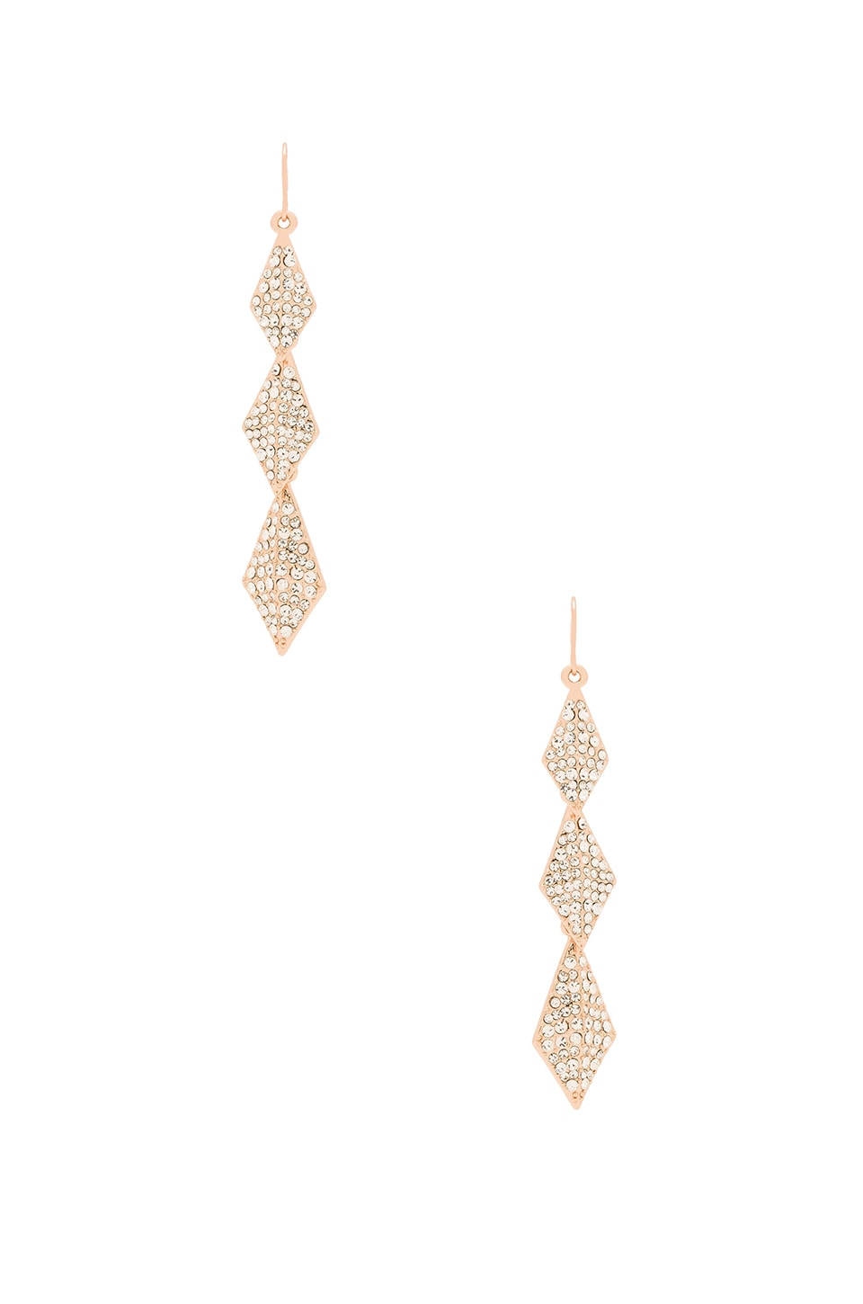 Lisa Freede Stella Earrings in Rose Gold & Clear