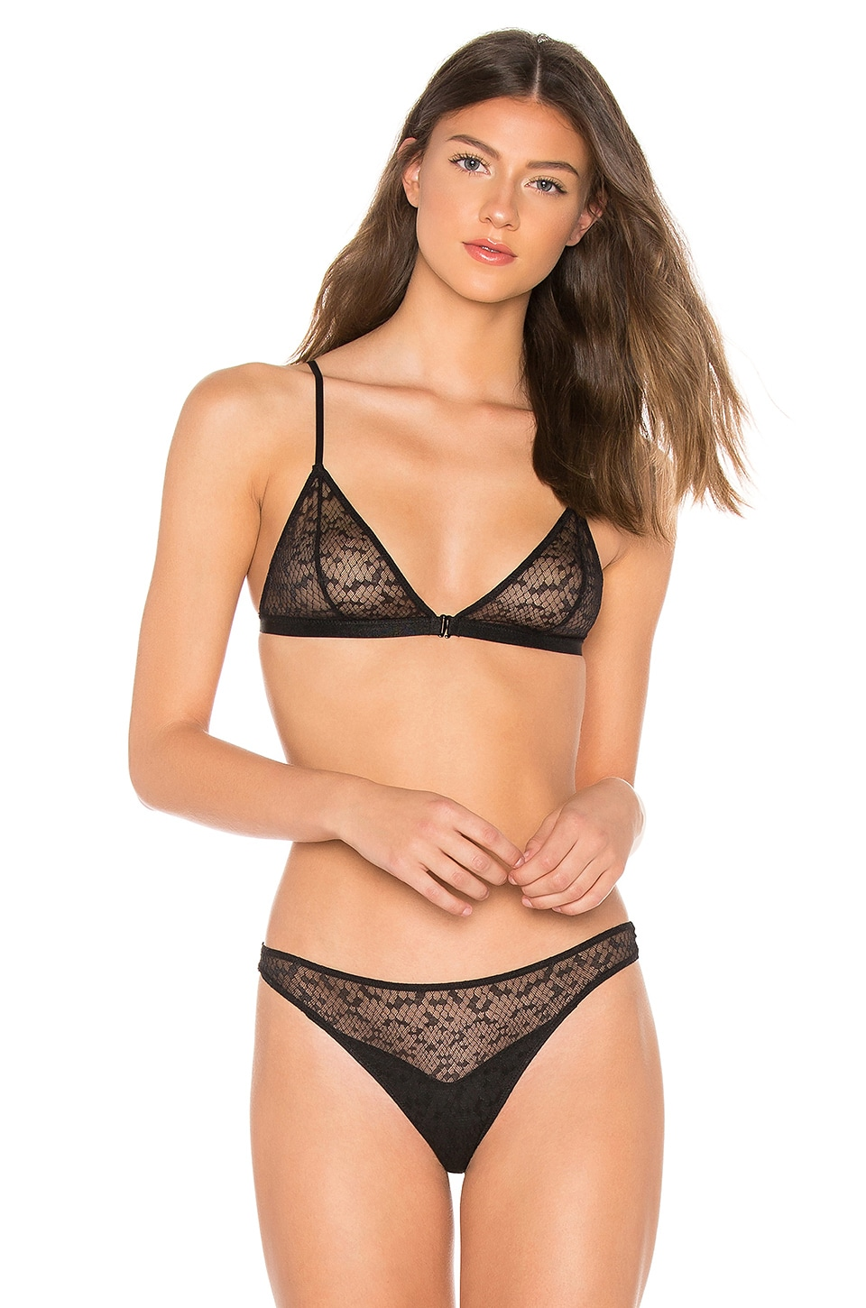 Les Girls Les Boys SNAKE LACE TRIANGLE BRA