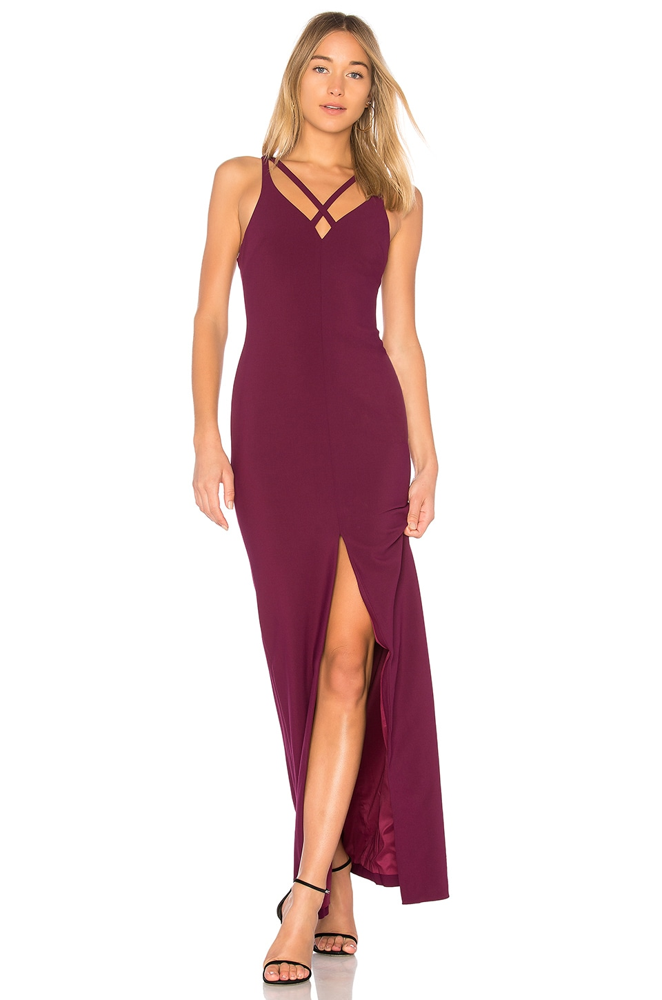 LIKELY Leslie Gown in Plum | REVOLVE