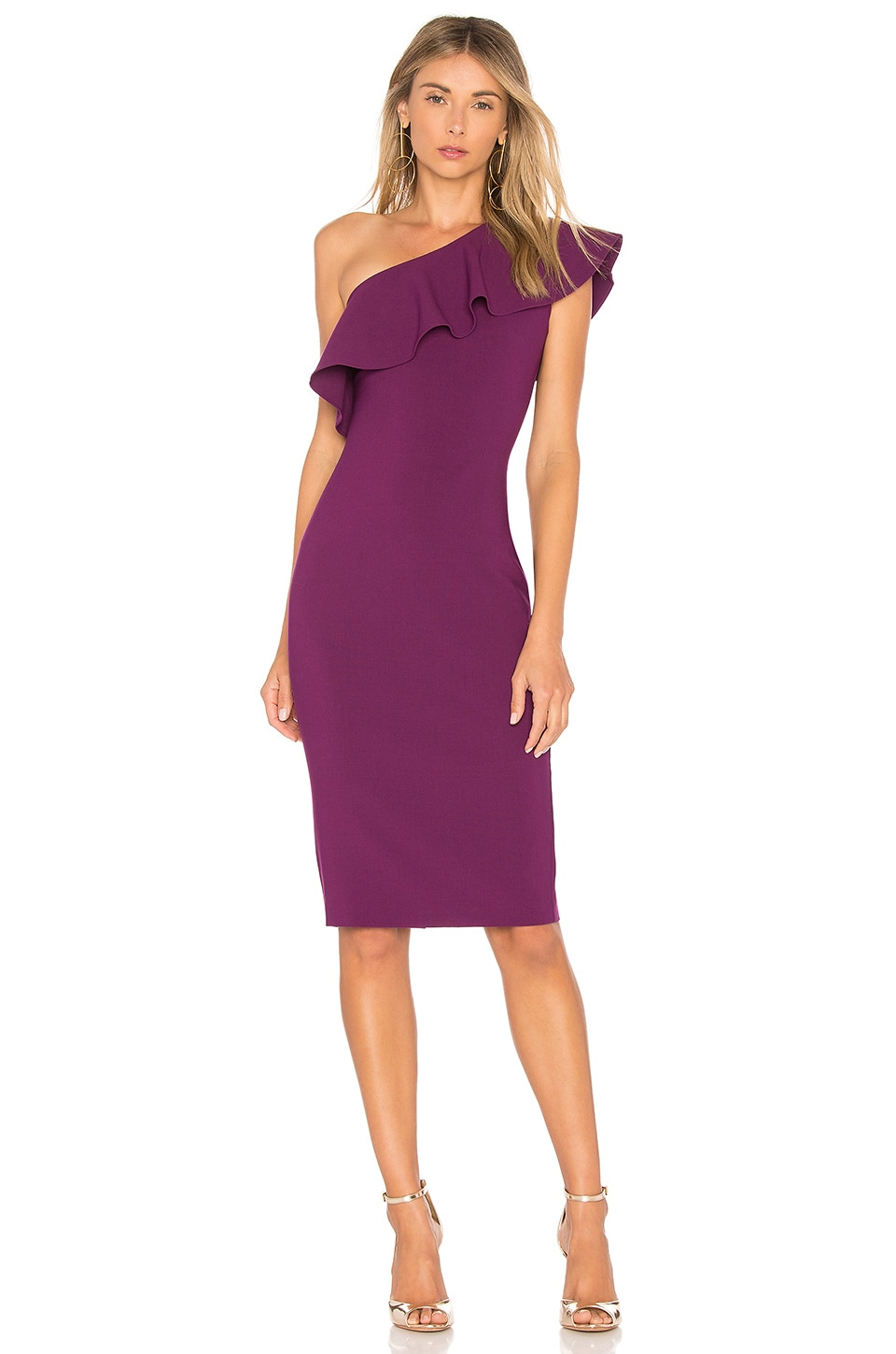 LIKELY Wilshire Dress in Electric Plum