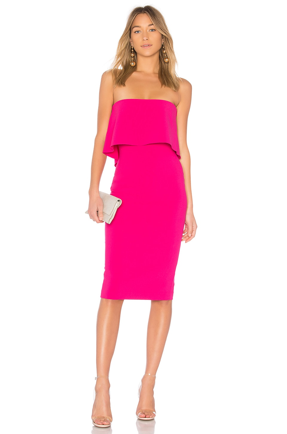 LIKELY Driggs Dress in Fuchsia