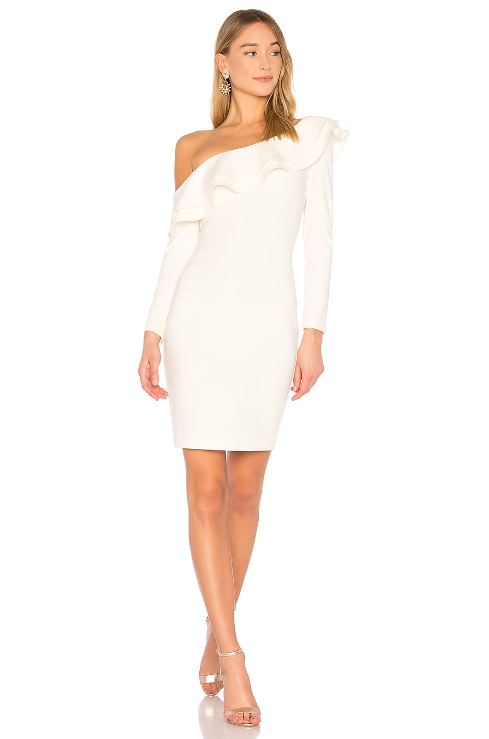 LIKELY Georgina Dress in White