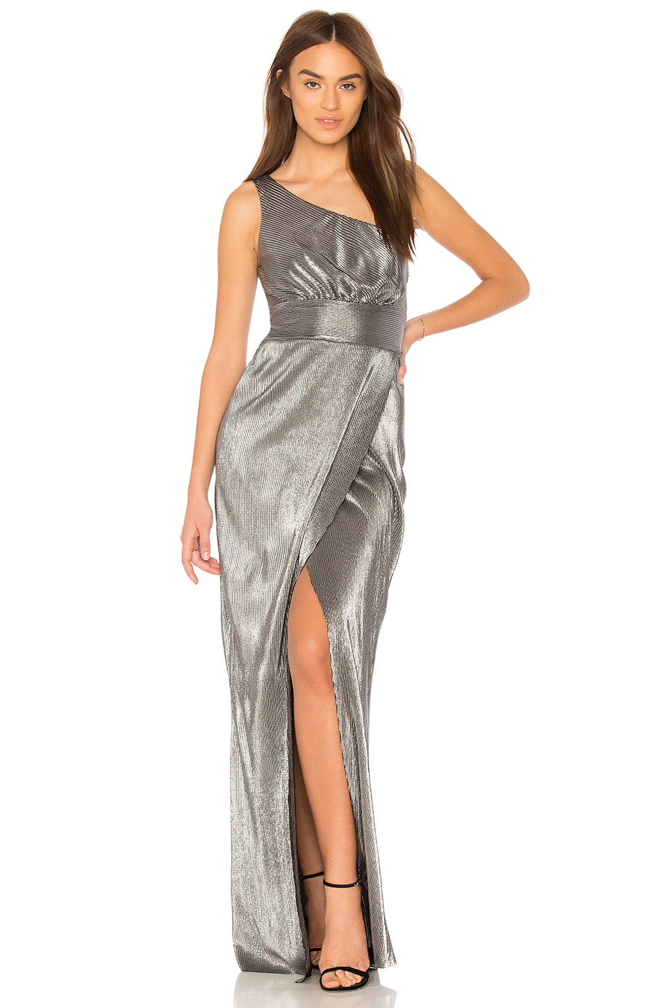 LIKELY Chandler Gown in Pewter