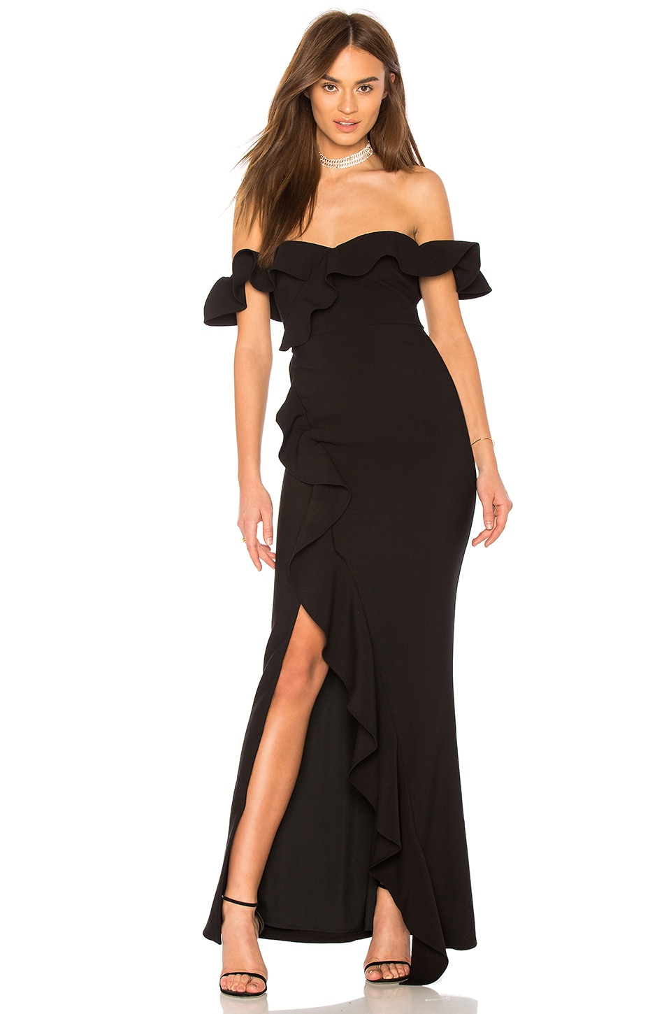 LIKELY Miller Gown in Black