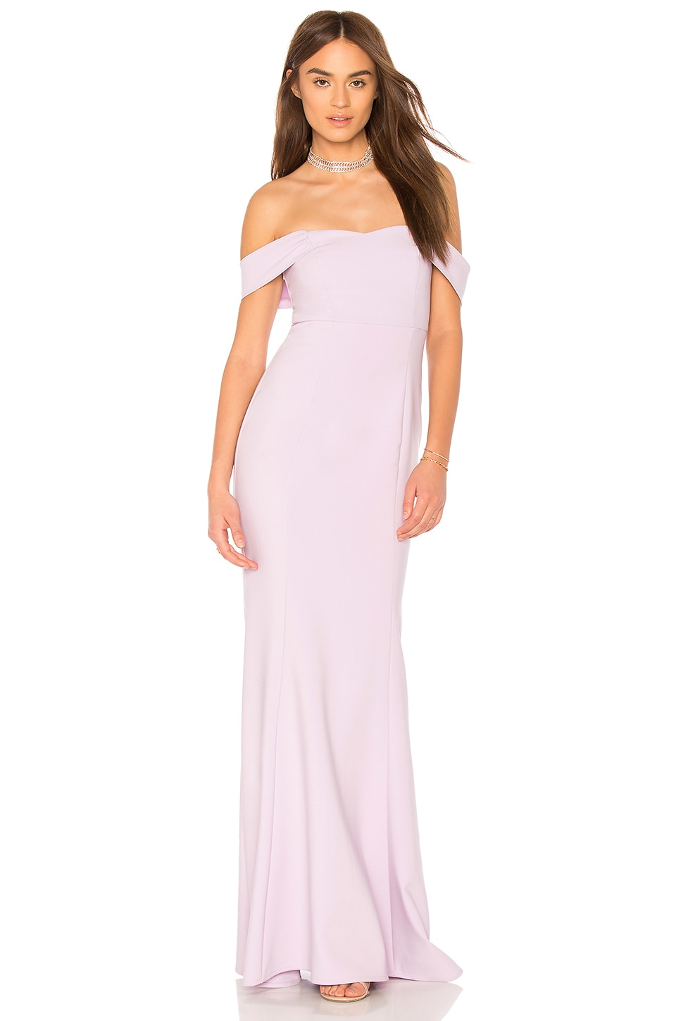 LIKELY x Revolve Bartolli Gown in Orchid Bloom