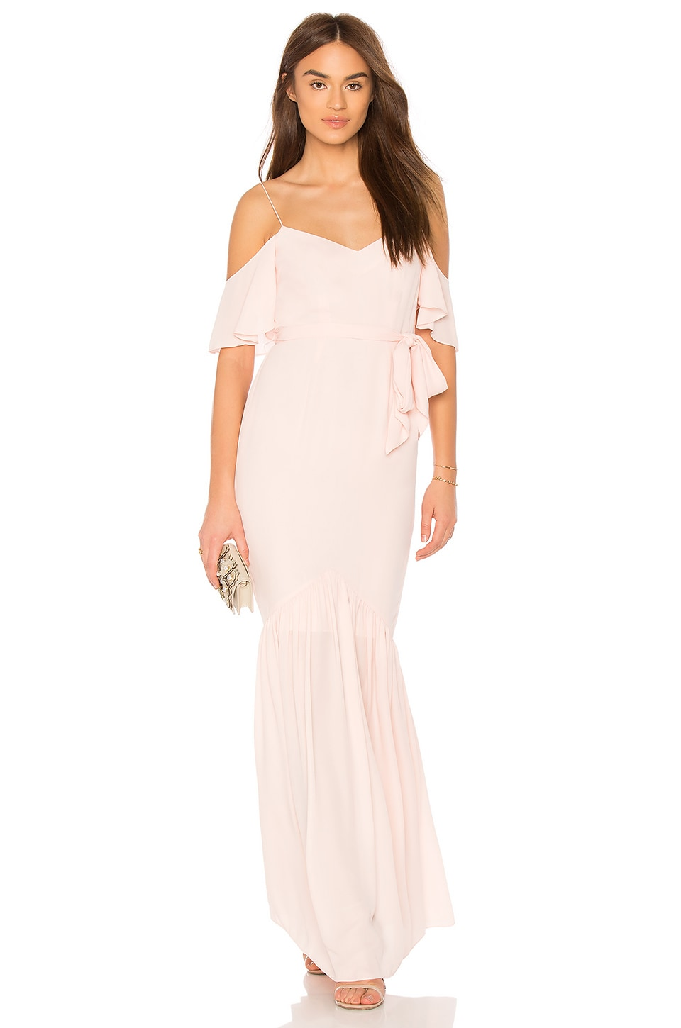 LIKELY x Revolve Emmy Bridesmaid Gown in Seashell Pink
