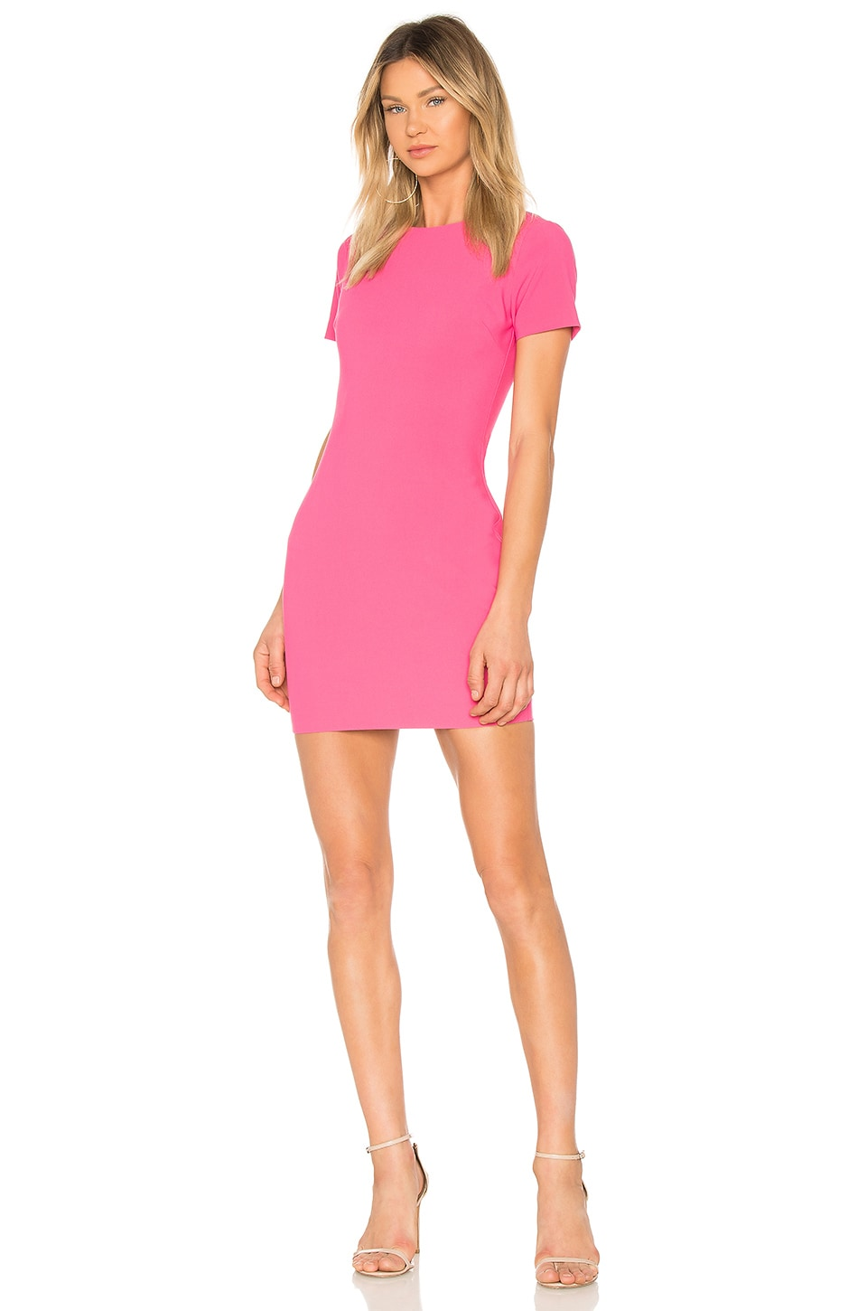 LIKELY Manhattan Dress in Pink Flambe