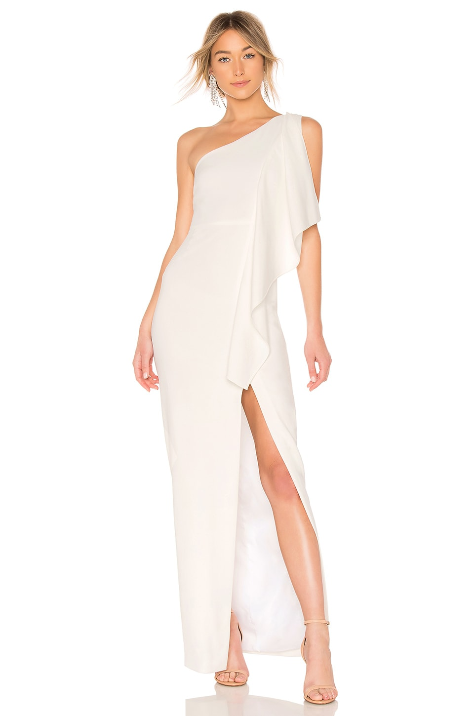 LIKELY Sienna Gown in White