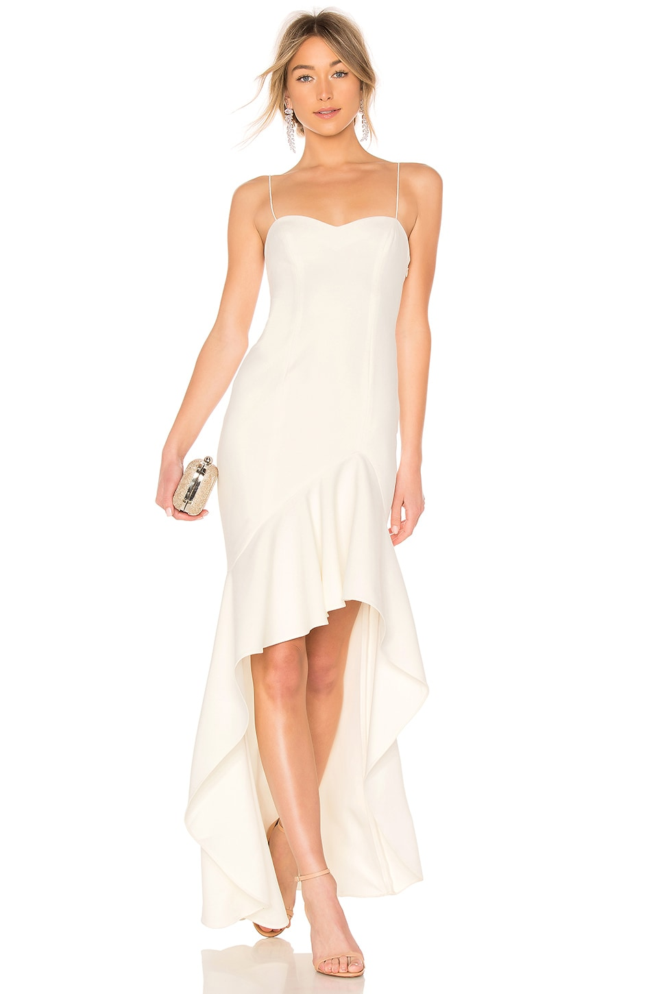 LIKELY Vita Gown in White