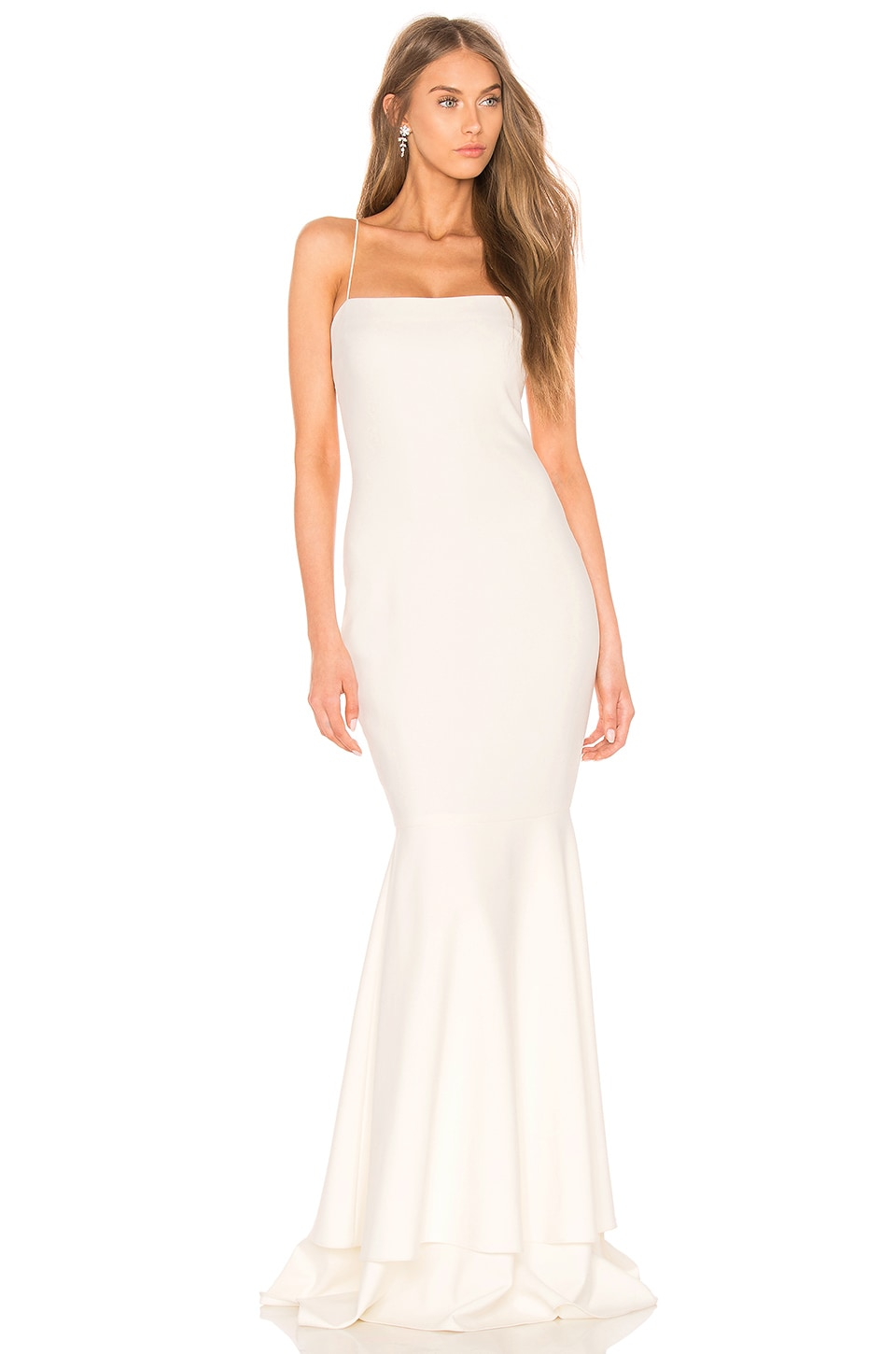 LIKELY Aurora Gown in White