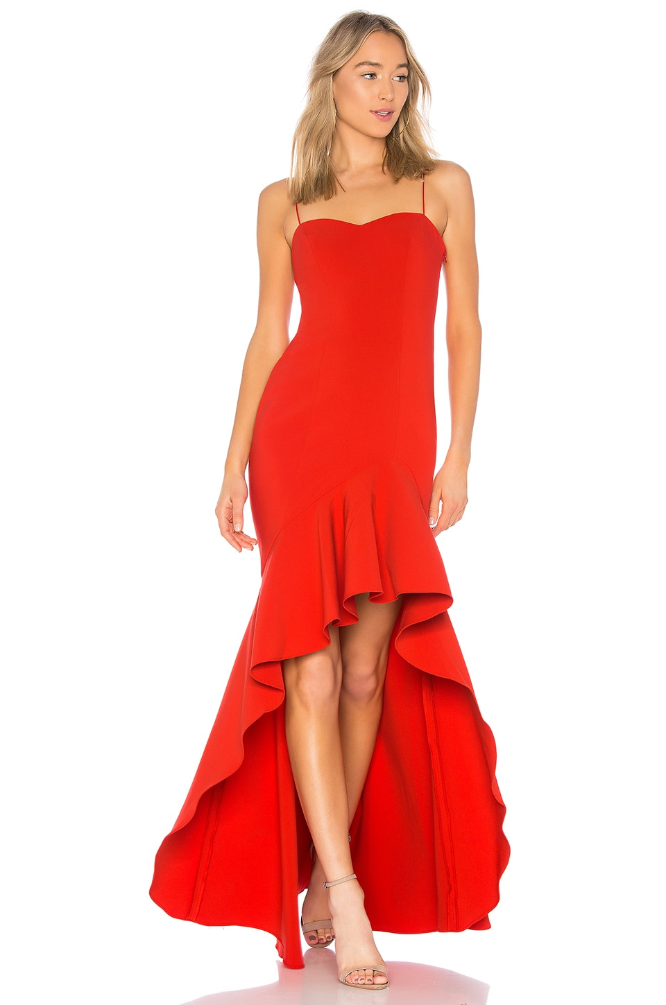 LIKELY Vita Gown in Scarlet