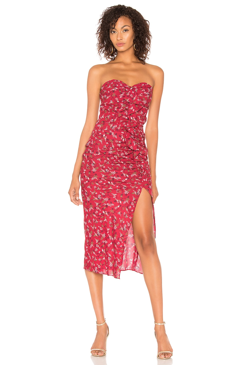 LIKELY Ali Dress in Rumba Red Multi