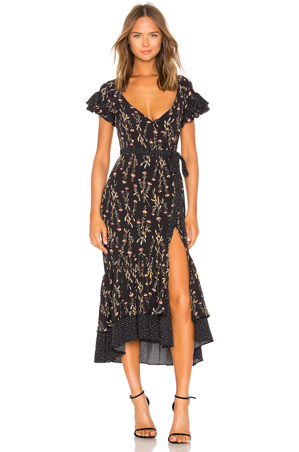 LIKELY Melanie Dress in Black Multi