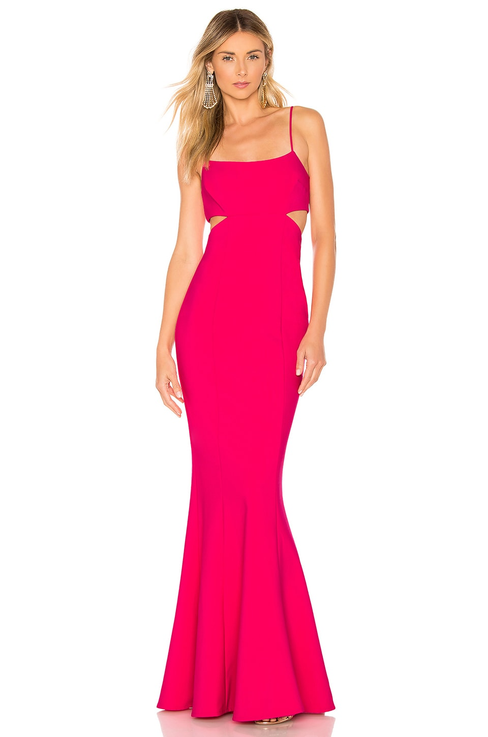 LIKELY Tamarelli Gown in Fuchsia