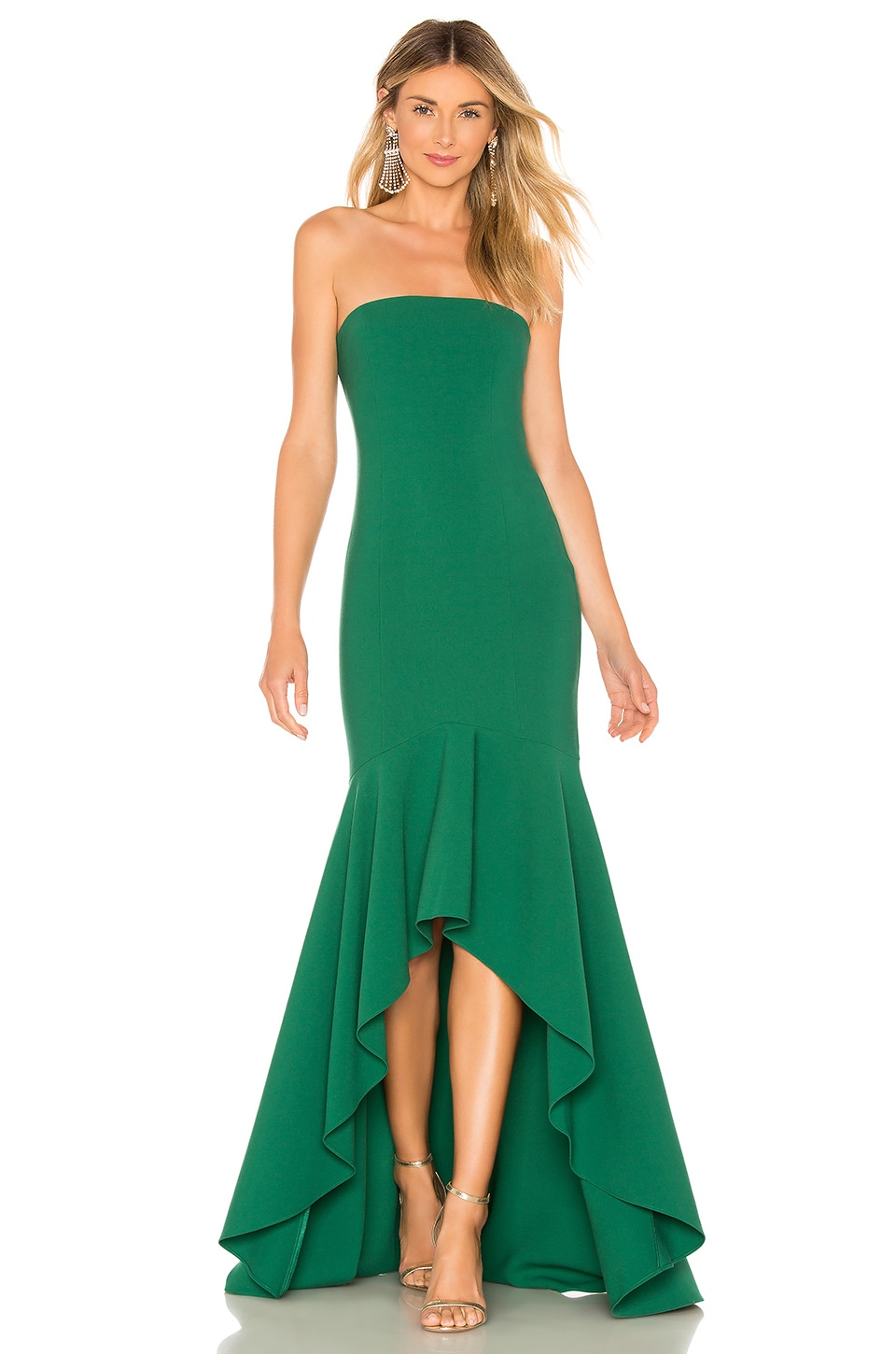 LIKELY Carlo Gown in Evergreen