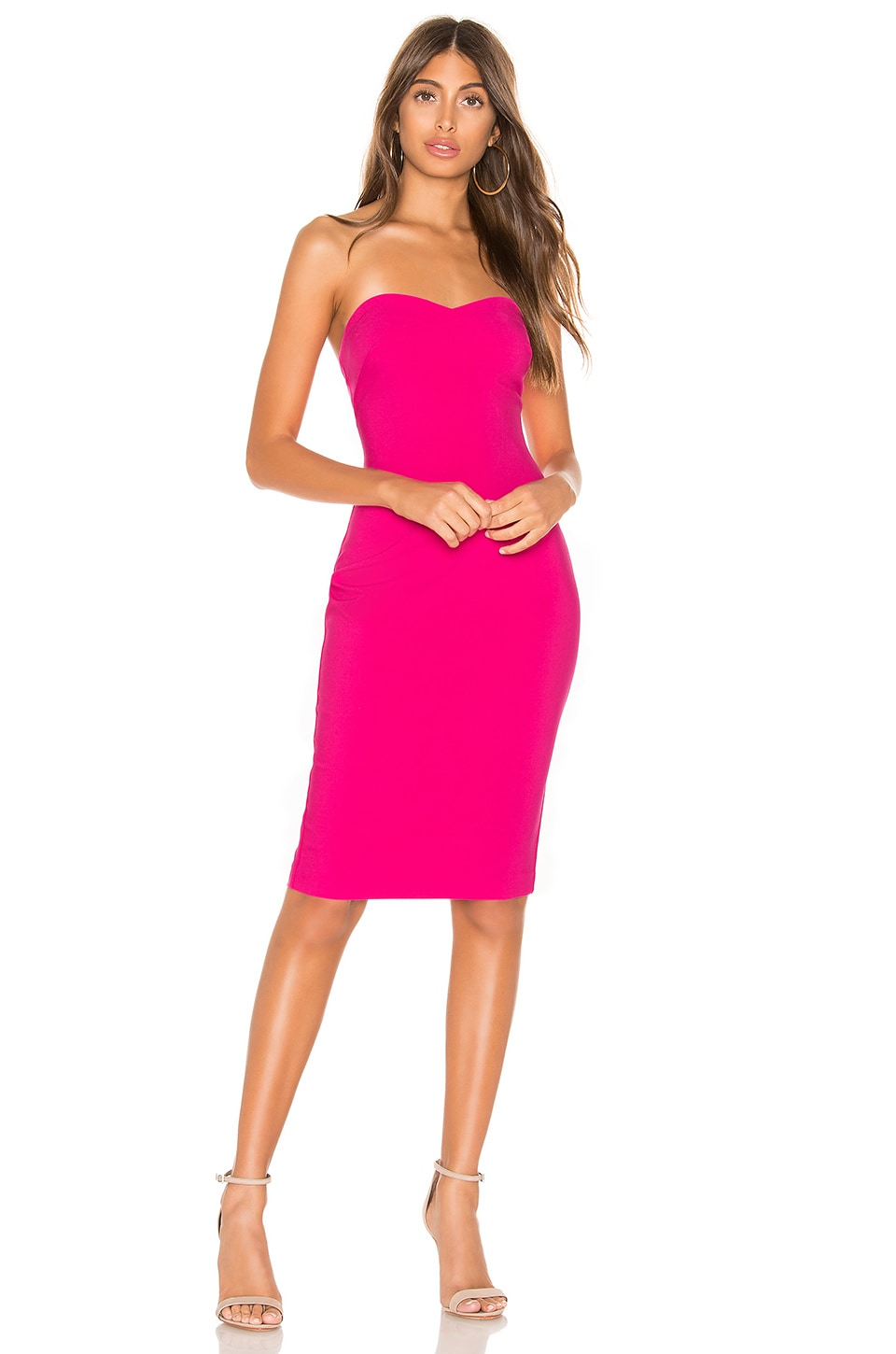 LIKELY Laurens Dress in Fuchsia