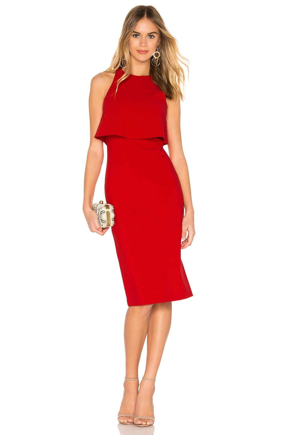 LIKELY Shayna Dress in Scarlet