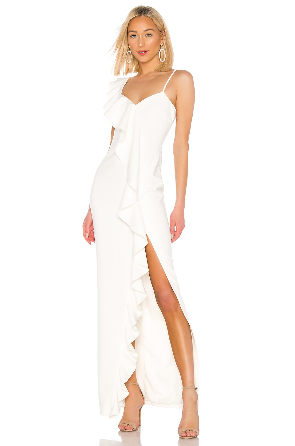 LIKELY Kilkenny Gown in White