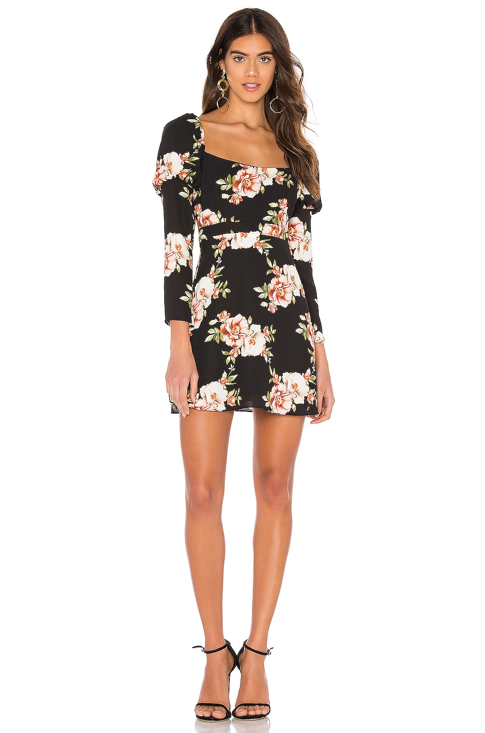 LIKELY Tara Dress in Black Multi