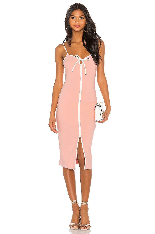 LIKELY Kamali Dress in Peach Pearl
