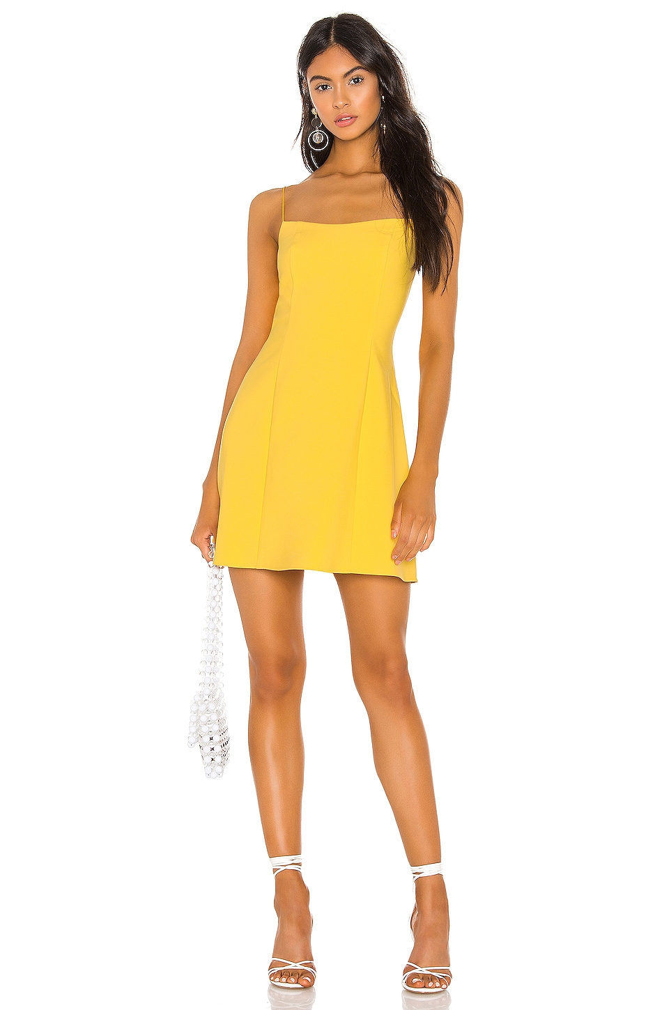 LIKELY Carter Dress in Yellow Chrome