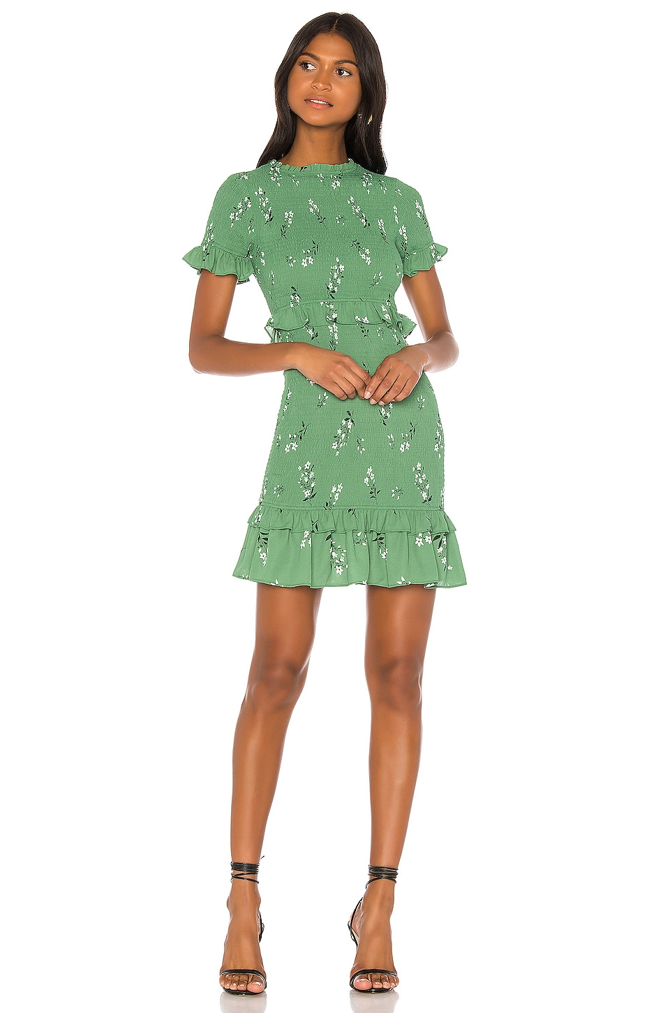 LIKELY Faye Dress in Green & Black