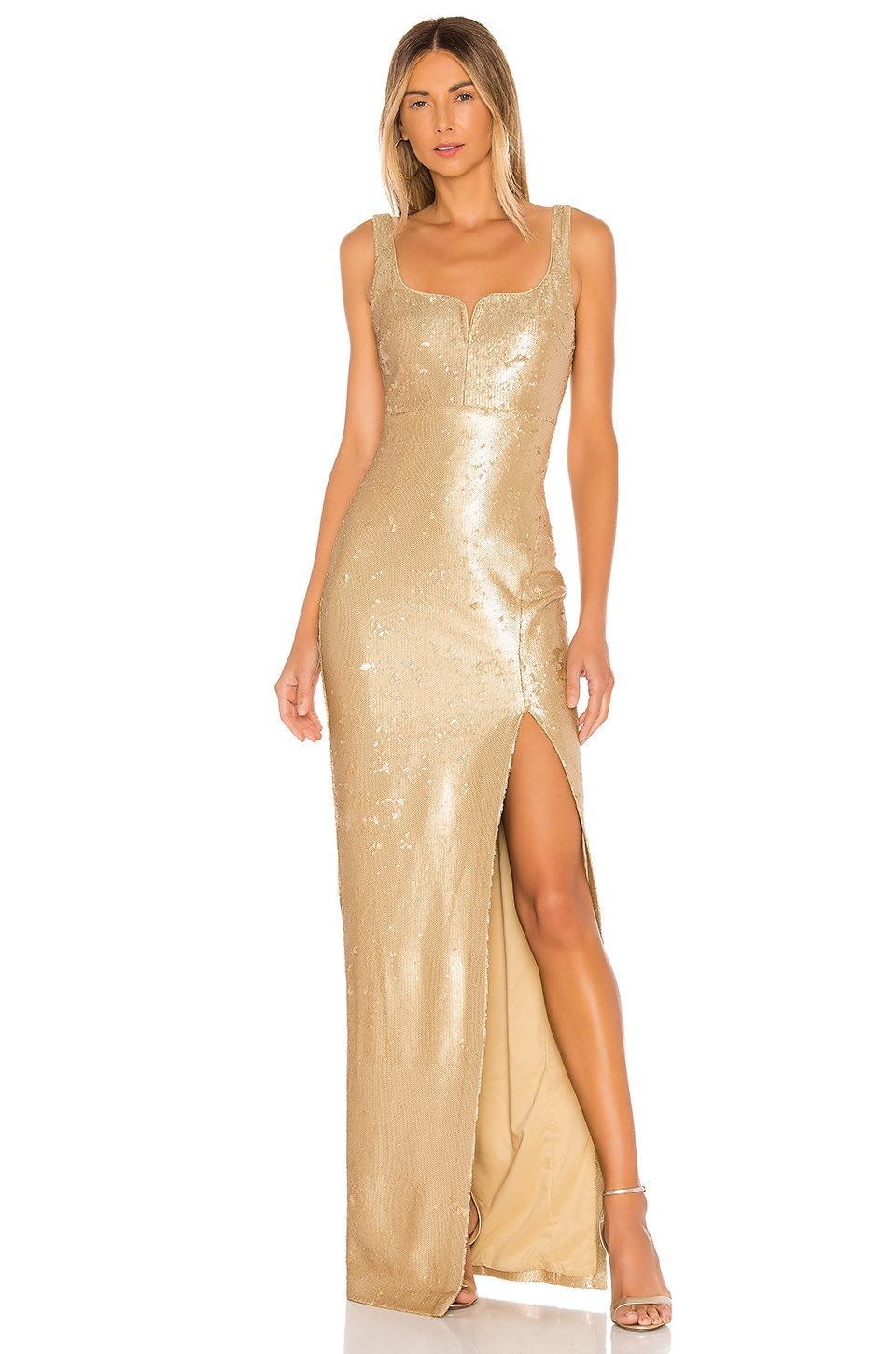LIKELY Mineo Gown in Gold