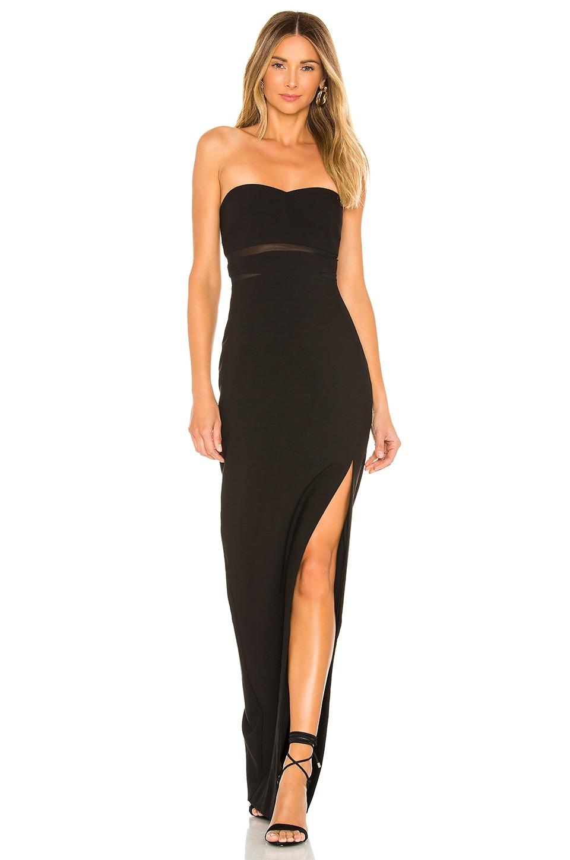 LIKELY Vas Gown in Black