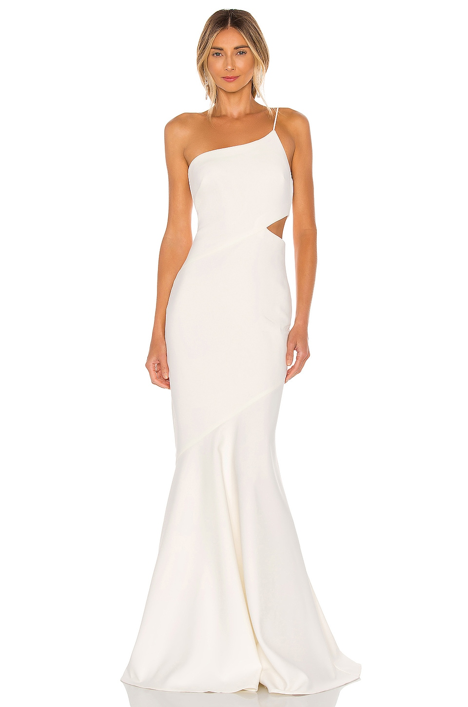 LIKELY Fina Gown in White