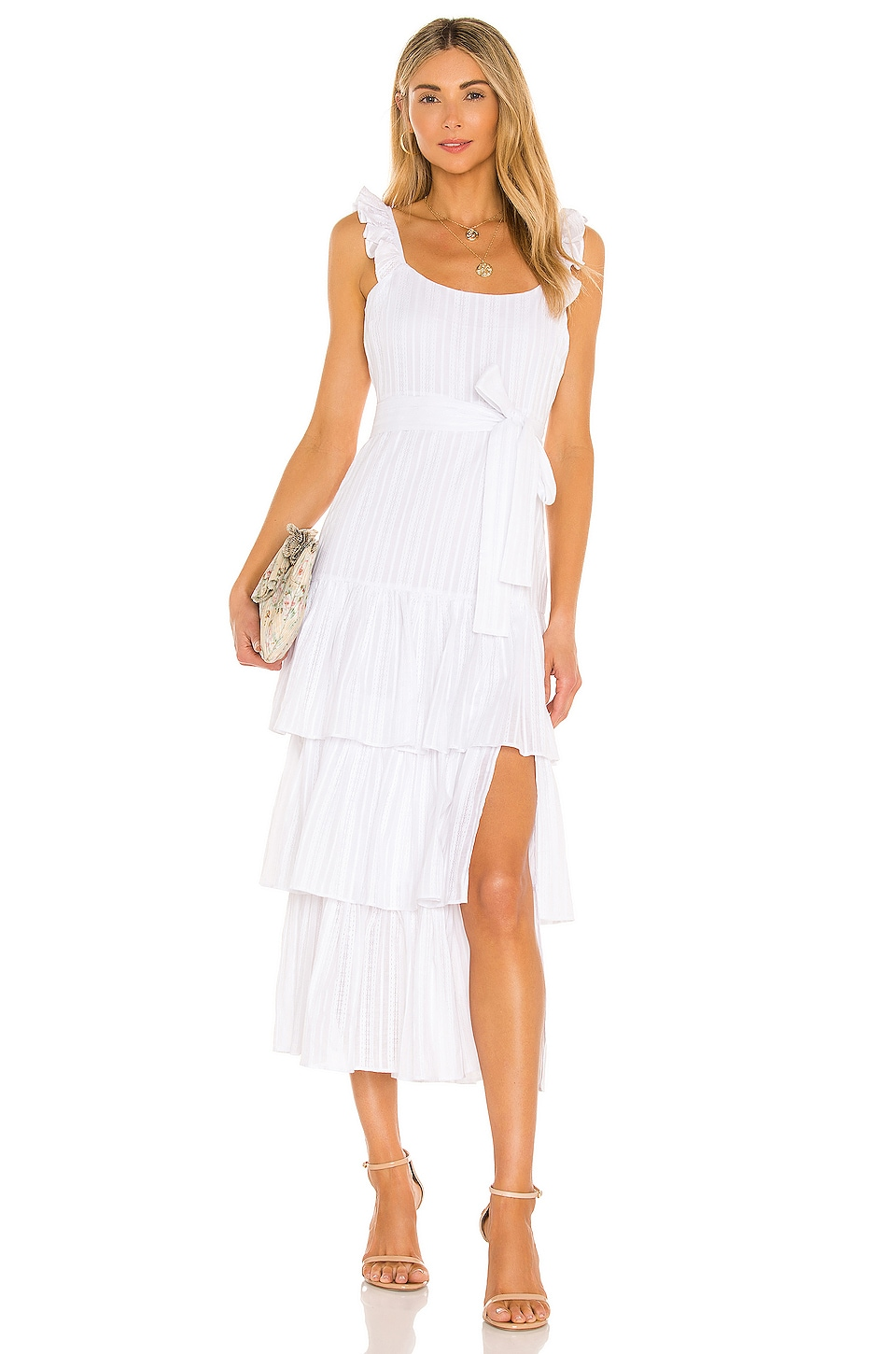 LIKELY Charlotte Dress in White