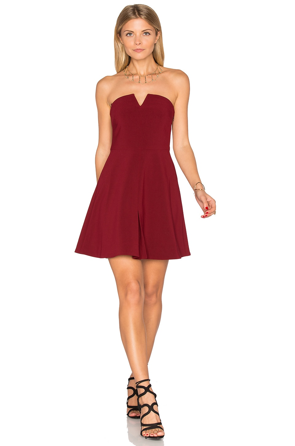 LIKELY Knowlton Dress in Garnet