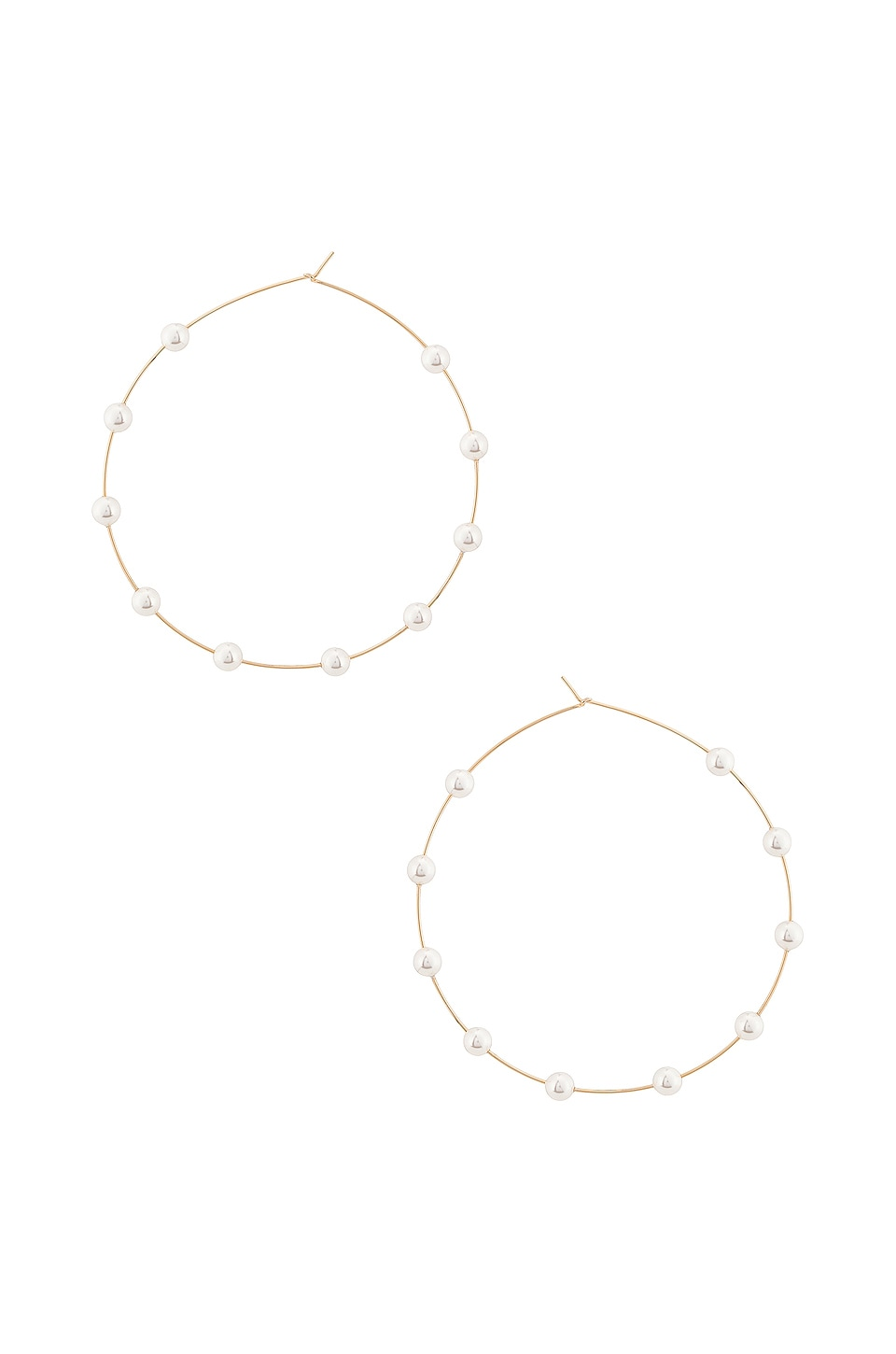 Lili Claspe Molly Hoop in Gold