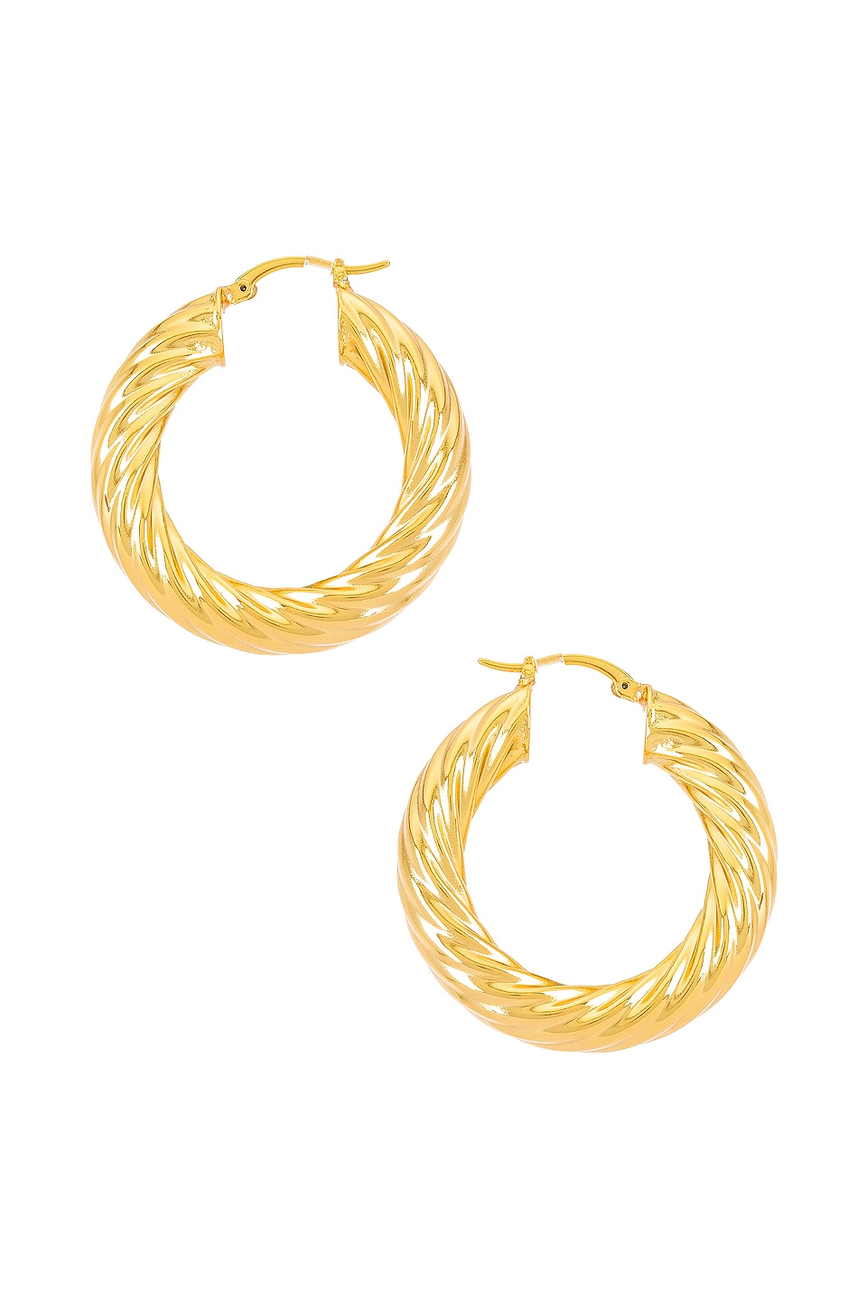 Lili Claspe Gina Hoops in Gold