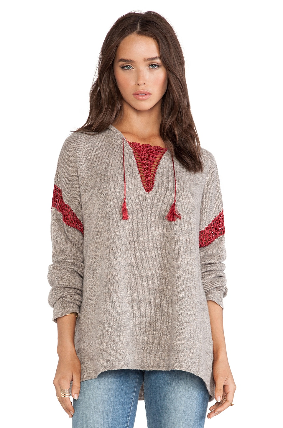 Linear B. Tulum Hooded Sweater in Sparrow