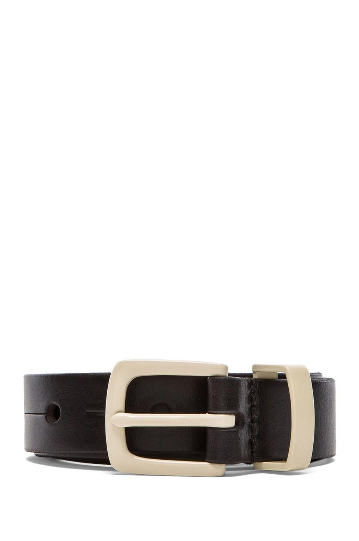 Linea Pelle Versatile Waist Belt in Black & Vanilla