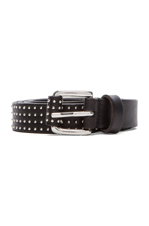 Linea Pelle Studded Skinny Hip Belt in Black
