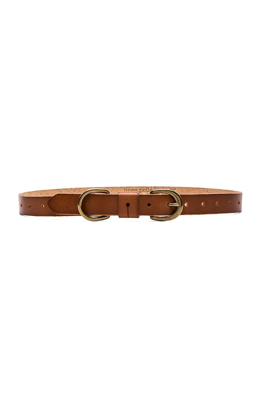 Linea Pelle Skinny D-Ring Belt in New Cognac
