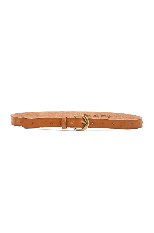 Linea Pelle Versatile Skinny X Belt in New Cognac