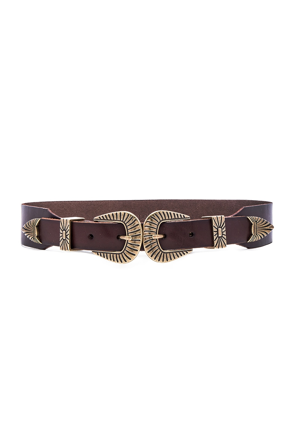 Double Buckle Hip Belt by Linea Pelle