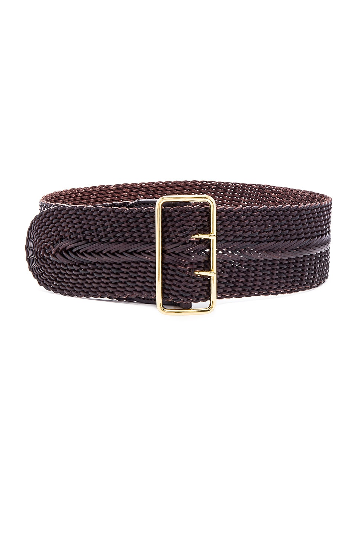 Linea Pelle Woven Braided Waist Belt in Tmoro