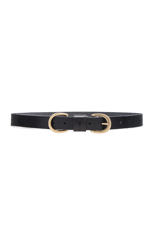 Skinny D Ring Hip Belt by Linea Pelle
