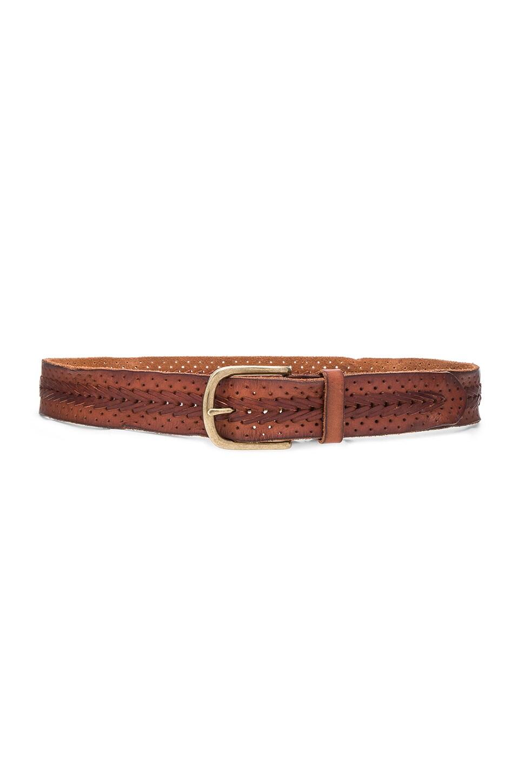 Center Braid Hip Belt by Linea Pelle