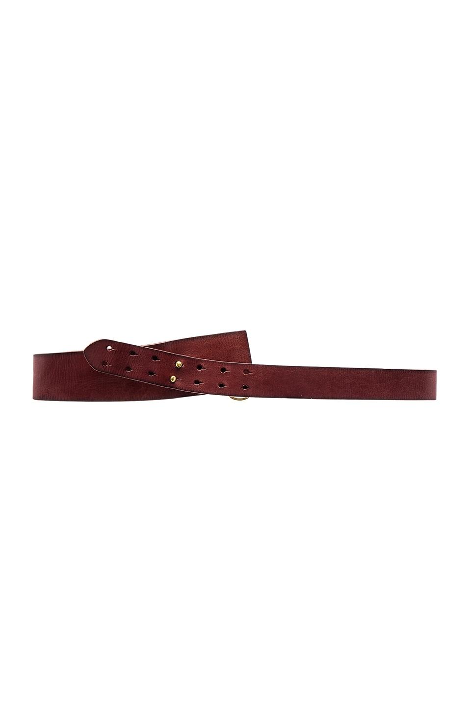 Linea Pelle Vintage Wrap Hip Belt in Rust & Brass