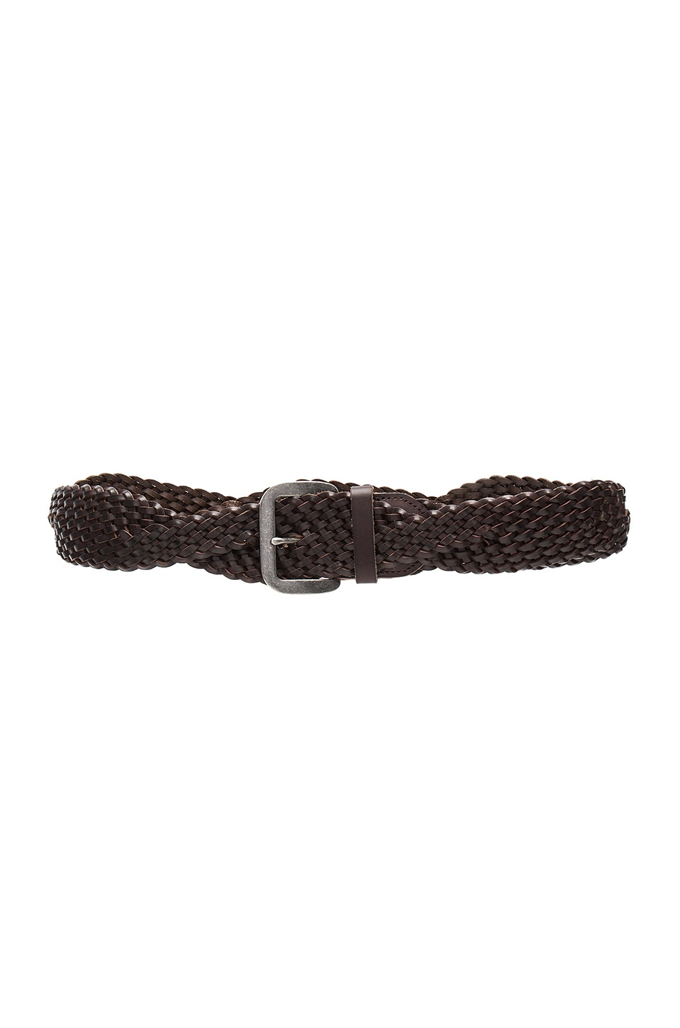 Linea Pelle Twist Braid Belt in Tmoro