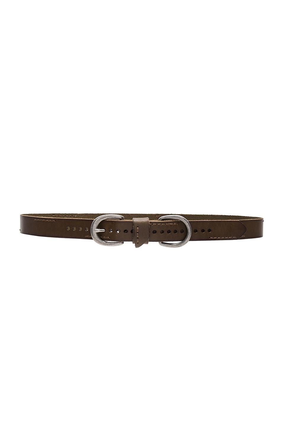 Skinny Stitch Belt by Linea Pelle