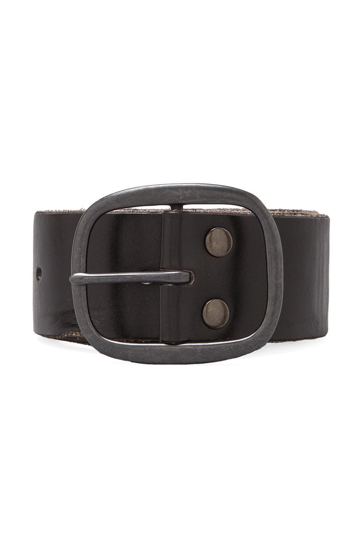Linea Pelle Vintage Multi Hole Belt in Black