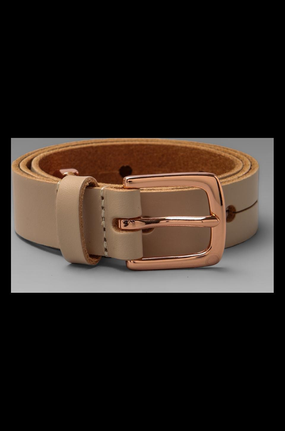 Linea Pelle Avery Waist with Metal Tip Belt in Blush/Rose Gold
